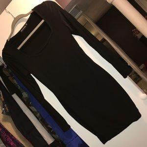 Black Slinky Mini Dress